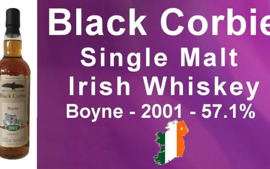 Black Corbie Single Malt Irish Whiskey Boyne distilled in 2001 - 57.1% ABV review #101 from WhiskyJason